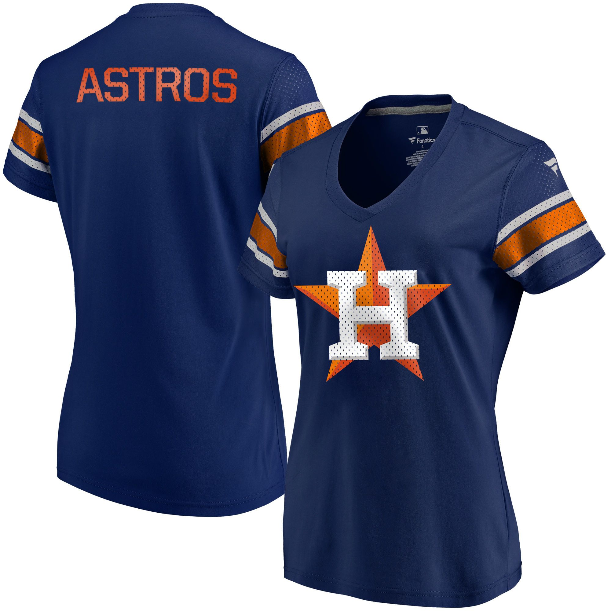 Fanatics Branded Houston Astros Women's Navy Iconic V-Neck T-Shirt