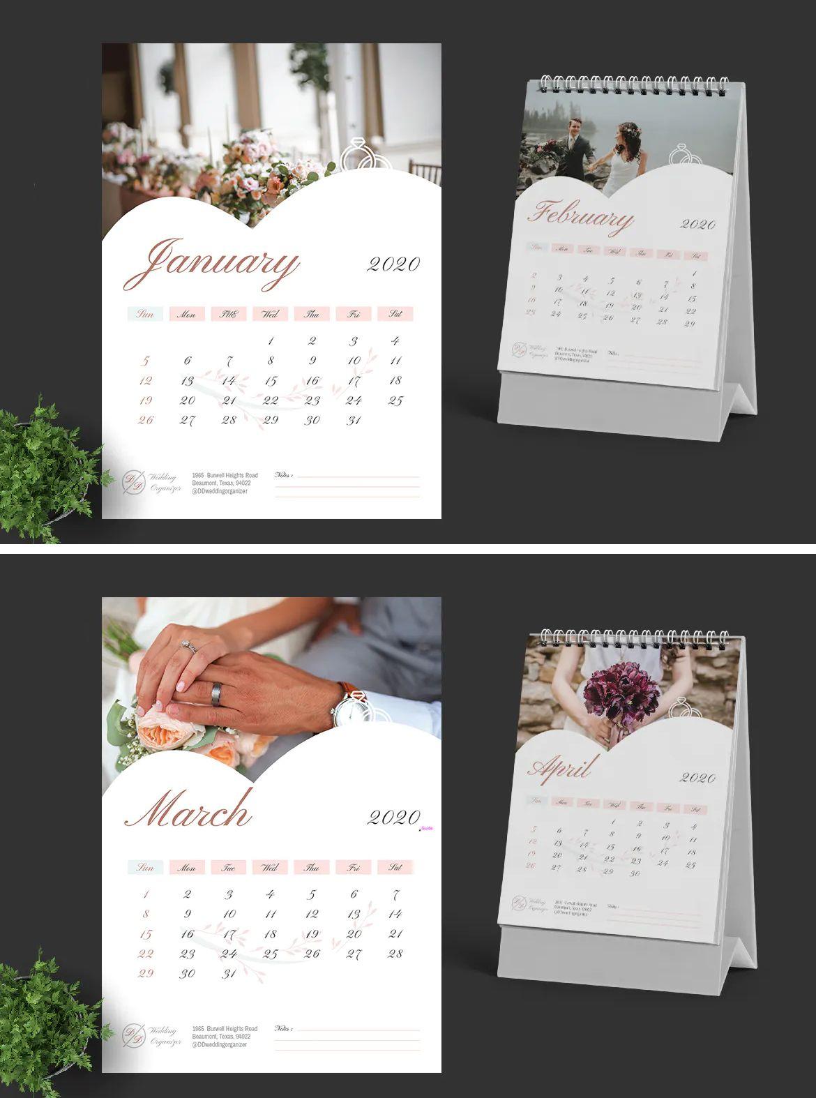2020 Wedding Calendar Template Vector Eps Ai Download Wedding Calendar Calendar Template Templates