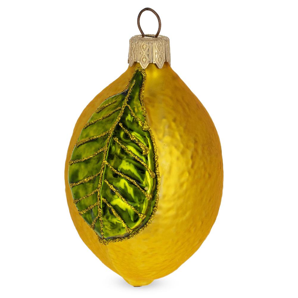 Details about Lemon Mouth Blown Glass Christmas Ornament 3 ...