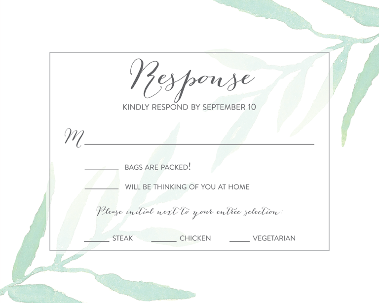 Rsvp To Wedding Invitation Wording: 18 Wedding RSVP Wording Ideas