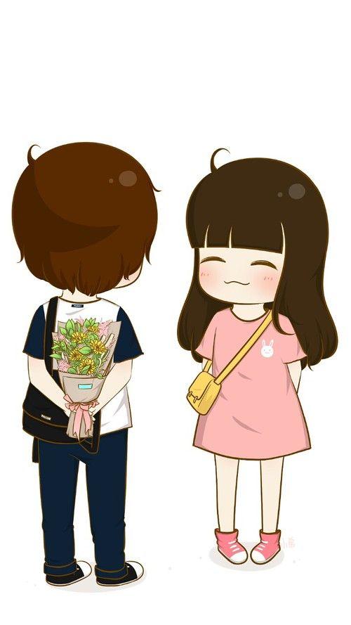 الله يعلم ان كل امنياتي هي سعادتك Cute Couple Cartoon Cute Chibi Couple Cute Love Cartoons