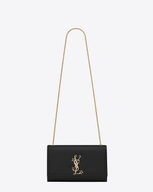 ae8ce721ba804 Saint Laurent Black Star Studded Medium Monogram Kate Bag