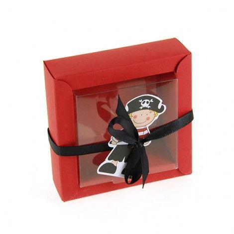 Caja de dulces bautizo bebé pirata (x 2)