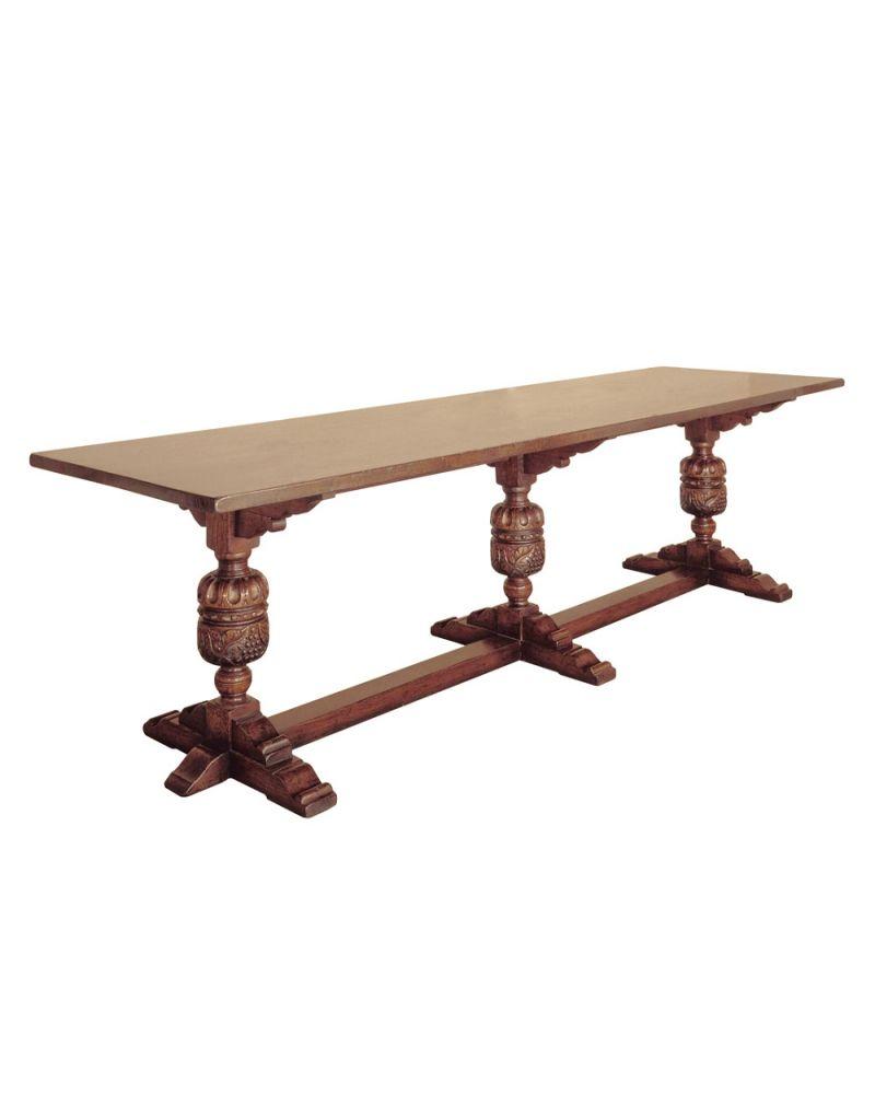 Titchmarsh And Goodwin Handmade English Furniture   English Oak/Tables  English Oak Baronial Dining Table