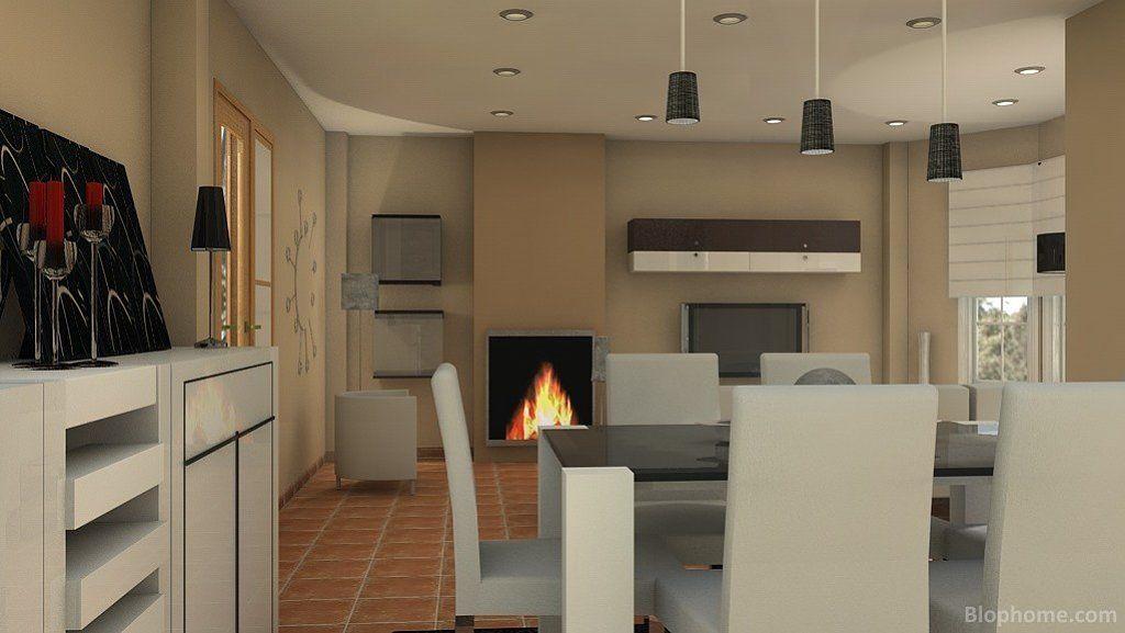 Salones con chimeneas modernas buscar con google deco - Salones con chimeneas modernas ...