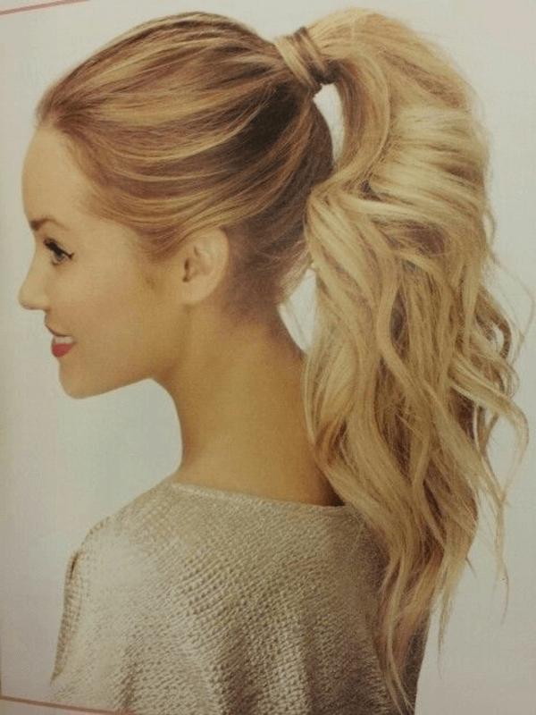 Blond Haare Frisuren Lange Haare Pferdeschwanz High Ponytail