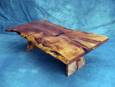 Natural Line, Slab Coffee Table In Mesquite Contemporary Coffee Tables