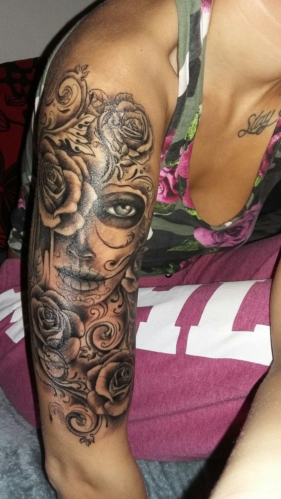 Muerte tattoo Girls Tattoos Pinterest Tatuajes Ideas de