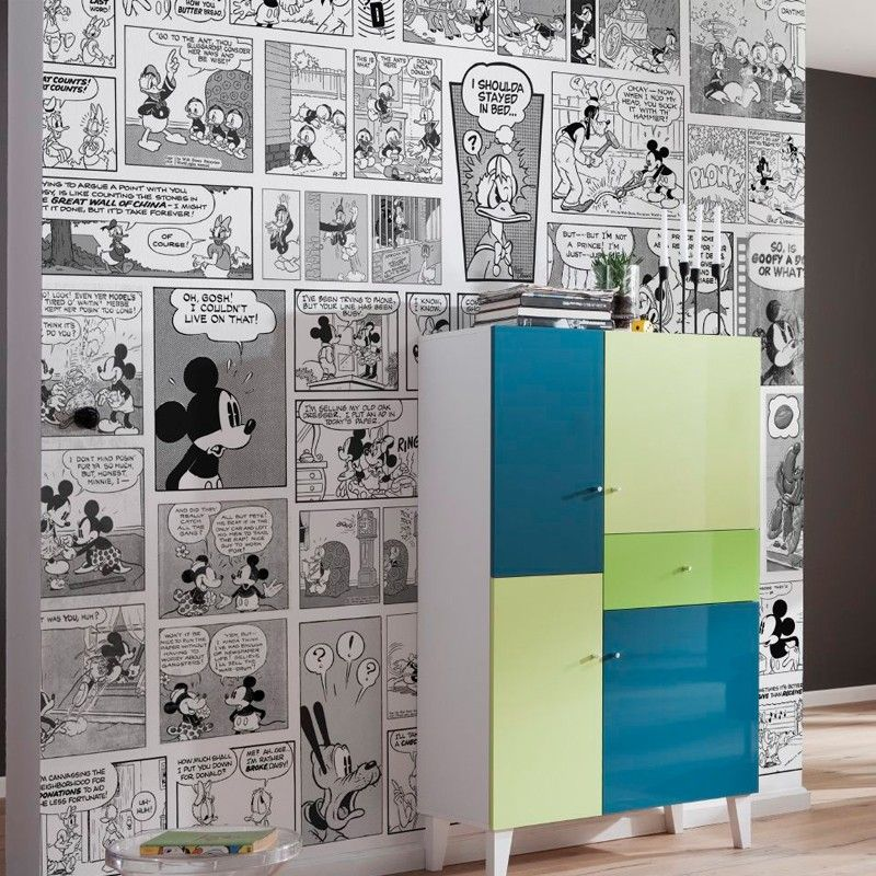 Gm Wohndesign: Mickey Mouse Comic Strip Wallpaper