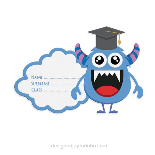 Free Monster Name Tag Clip Arts For Kids Parents And Teachers Download