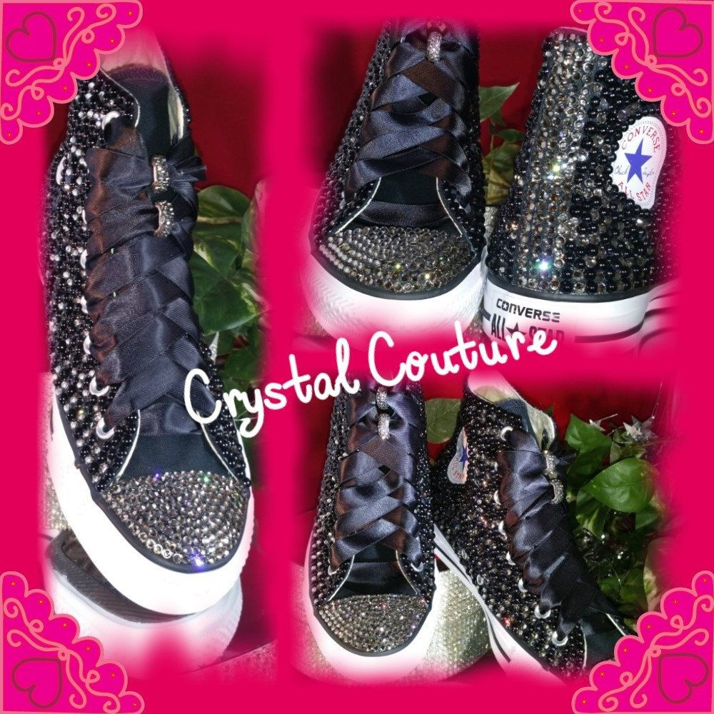 WHITE Pearl and Crystal Wedding Converse Style Shoes by Crystalcouture01 on  Etsy 4bd921a01