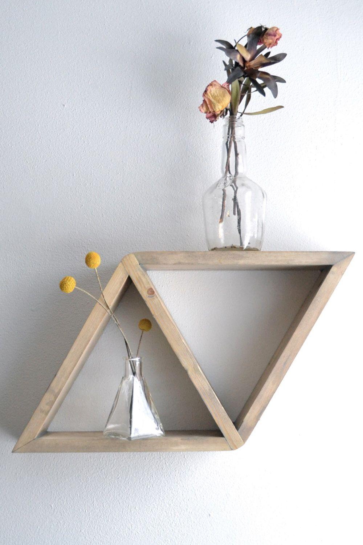 Diamond Shelf by The807 on Etsy Geometric shelves