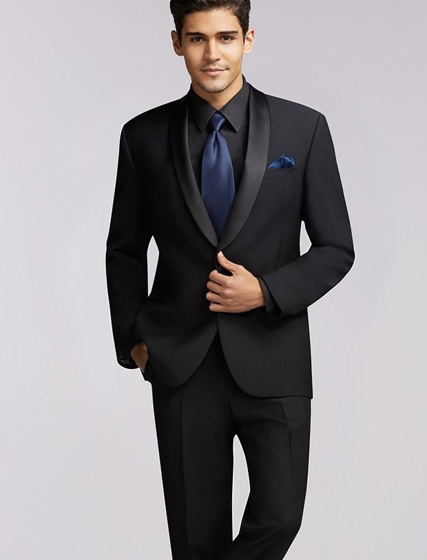 Calvin Klein One-Button Super 100s Peak Lapel. Men s Warehouse ... 1b3e1830cc2