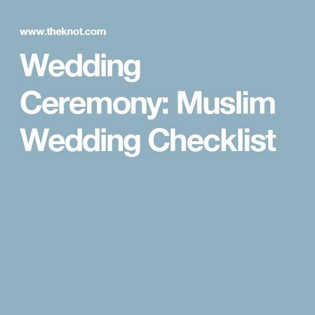 Muslim Wedding Ceremony Planning Checklist
