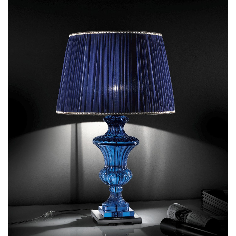 Lampe De Table En Cristal 236 Lt Cr Blu Illuminazione