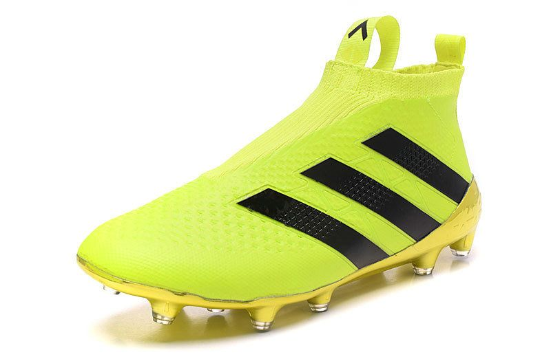 25db2693e 2018 World Cup Adidas Ace 16 PureControl No Laces FG AG Soccer Boots lime  yellow black