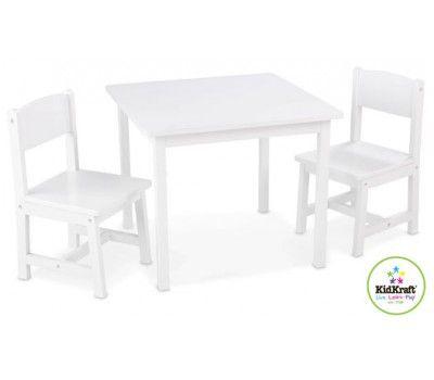 Fabulous Kidkraft Aspen Table Chair Set White The One Stop Baby Machost Co Dining Chair Design Ideas Machostcouk