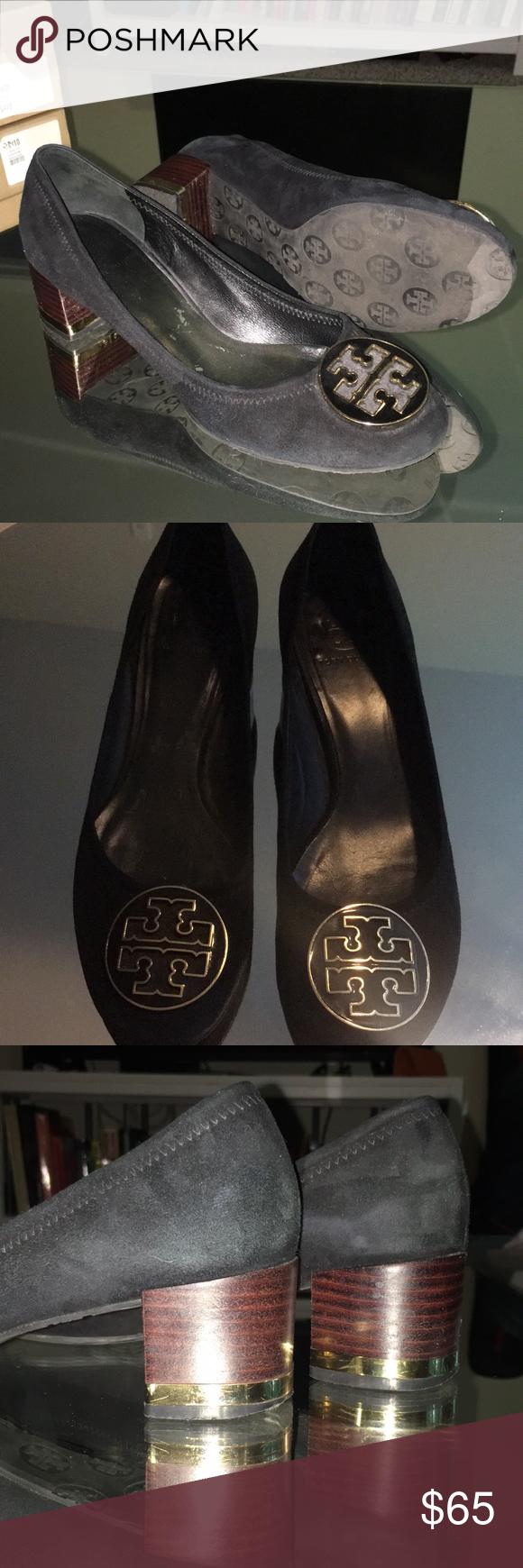 07e989abcb288d Tory Burch Heels GUC Tory chunky heel. Lots of life still left!  Comfortable
