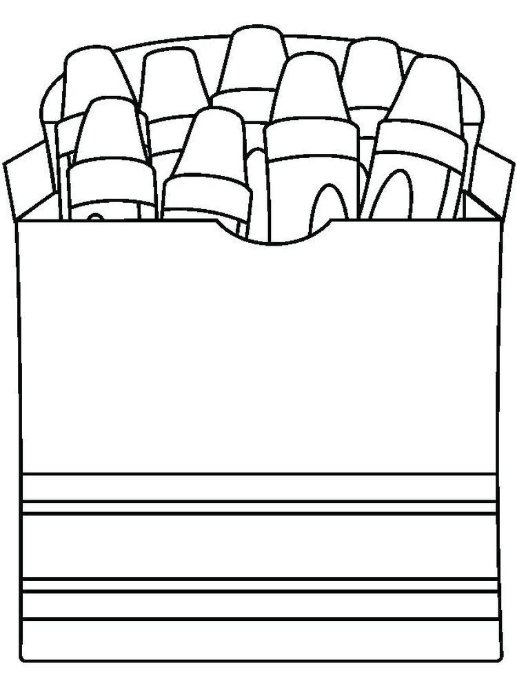 Crayon Coloring Sheet For Gift Tags And Color Practice