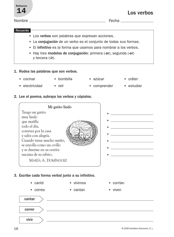 refuerzo lengua cuarto | Aprender | Educación español, Actividades ...
