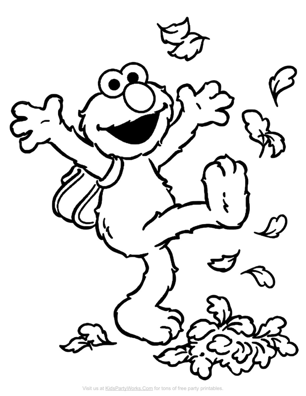 Elmo Coloring Page Elmo Thanksgiving 225 Free Thanksgiving Printables For Kids Thanksgiving Coloring Pages Sesame Street Coloring Pages Elmo Coloring Pages