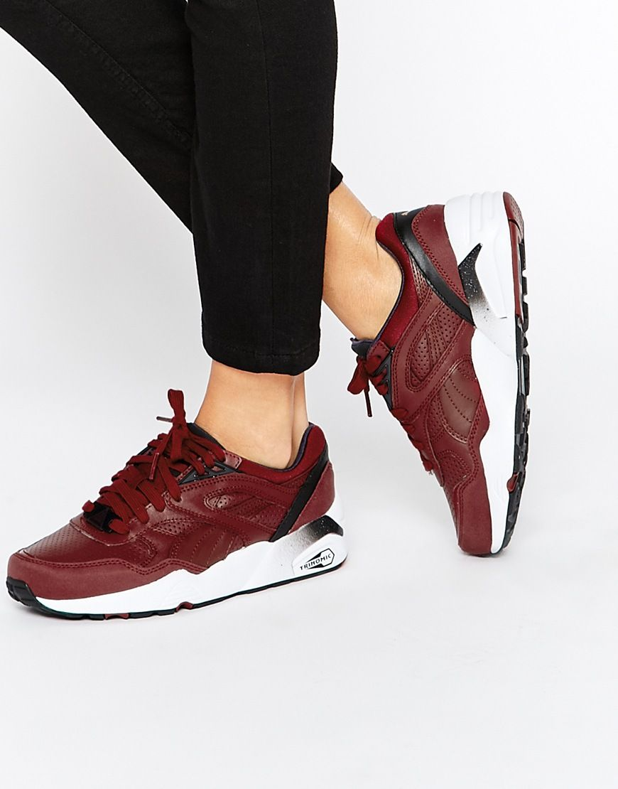 Buy Women Shoes / Puma R698 Leather Red Trainers