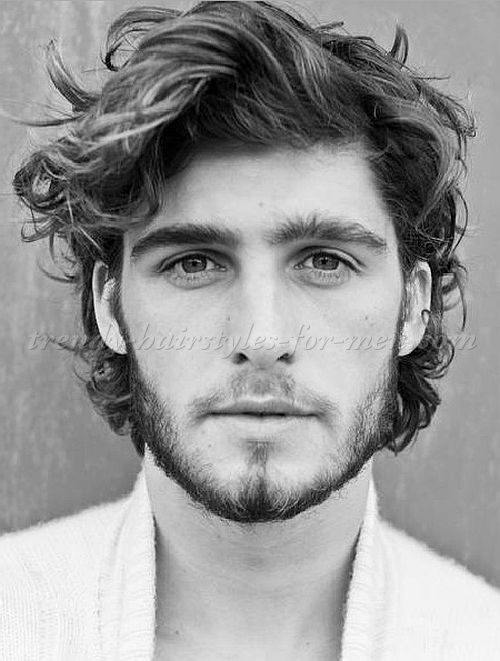Curly And Wavy Hairstyles For Men Wavy Hairstyle For Men Medium Length Hair Men Medium Hair Styles Thick Wavy Hair