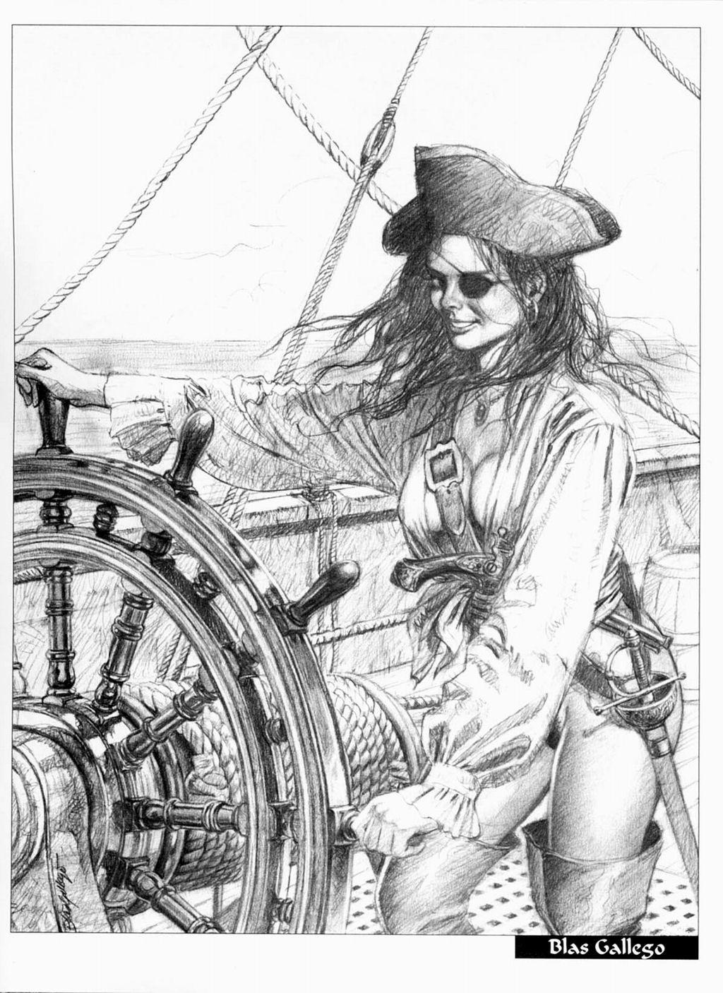 Pirate Women..Treasured Chests.