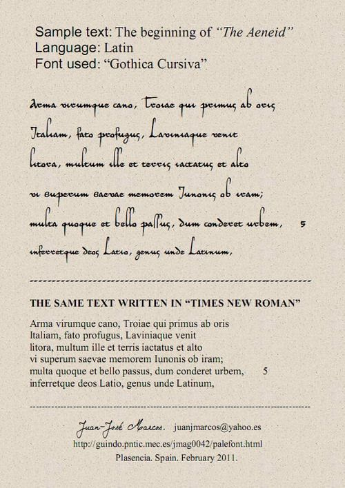 paleographic fonts  fonts for latin paleography