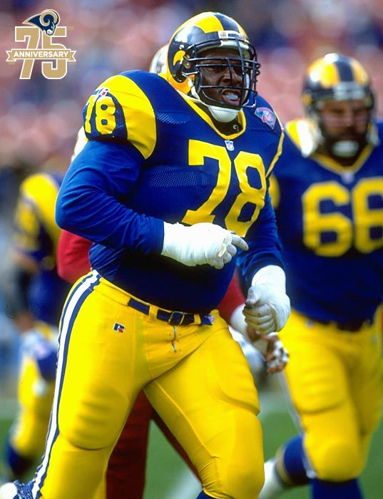 Jackie Slater Played His Entire 20 Year Career With The Rams Beginning In Los Angeles 1976 And Ending In St Jackie Slater Rams Football Nfl Football Players