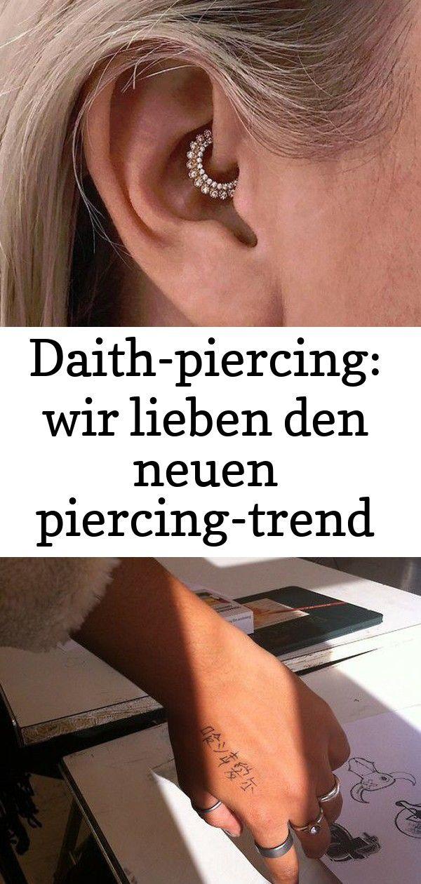 Daith-piercing: wir lieben den neuen piercing-trend auf