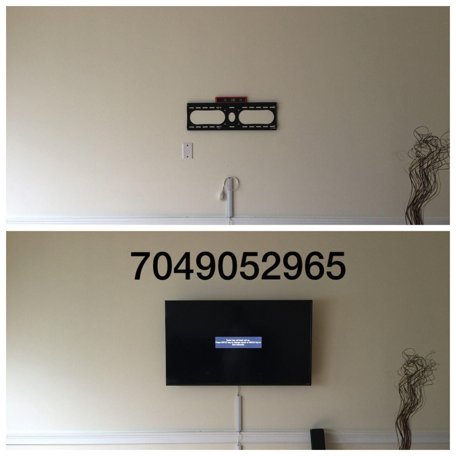 Pin on TV Wall Mounting Service Charlotte Fireplace TV