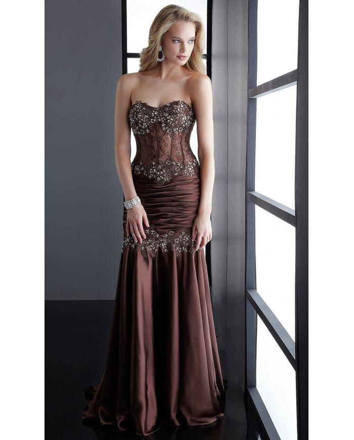 Long Corset Prom Dress - Ocodea.com