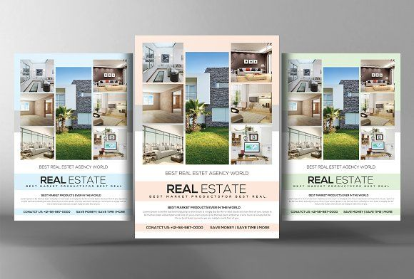 real estate flyers template by business templates on creativemarket