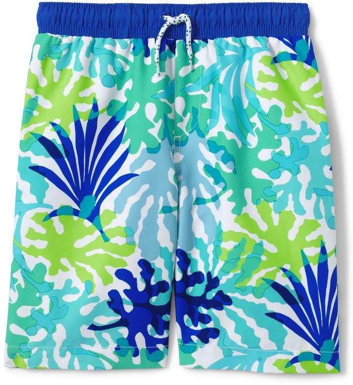 9f8d490c69248 Lands'end Toddler Boys Printed Swim Trunks #UV#rays#dry | Children ...
