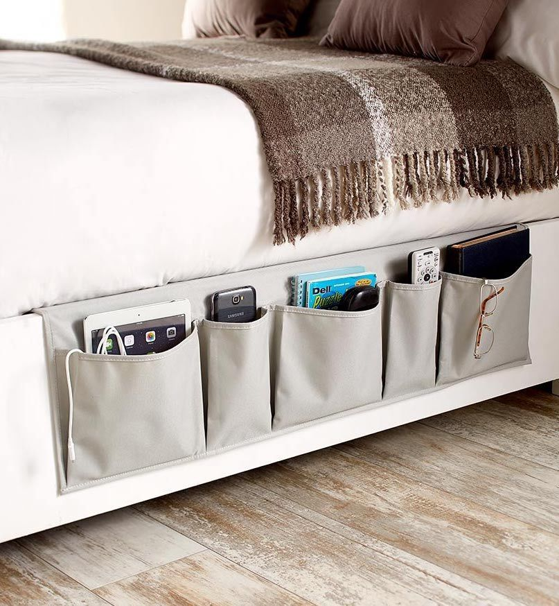 Bedside Storage Organizer Pockets Caddy Remote Control Magazine Book Holder Sol Ebay Bedside Storage Storage Ikea Bedroom Storage