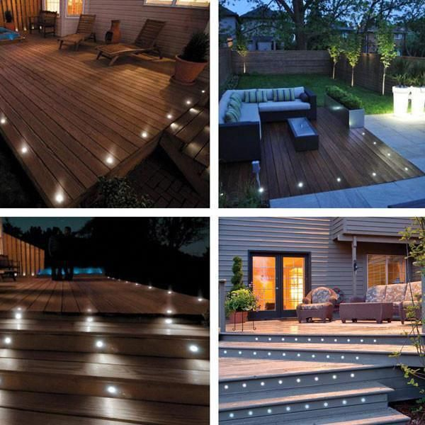 Best Thediyoutlet 10 Pack Round Recessed Deck Step Light Cool 400 x 300