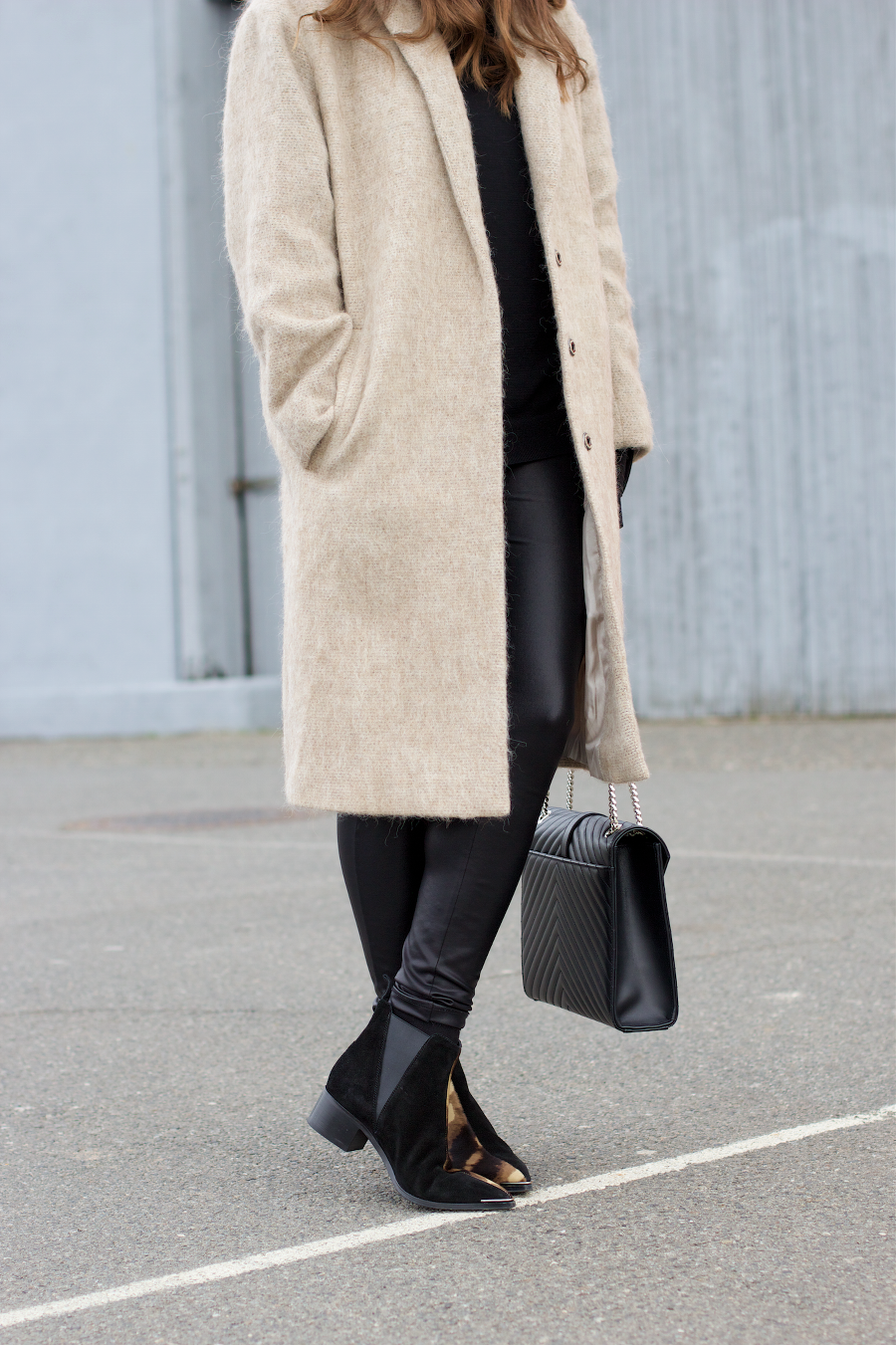 THE DASHING RIDER – A Personal Style & Lifestyle Blog | PERSONAL STYLE | Asos Nude Camel Coat Asos Leather Leggings Black Floppy Hat Acne Jensen Boots YSL Bag Outfit