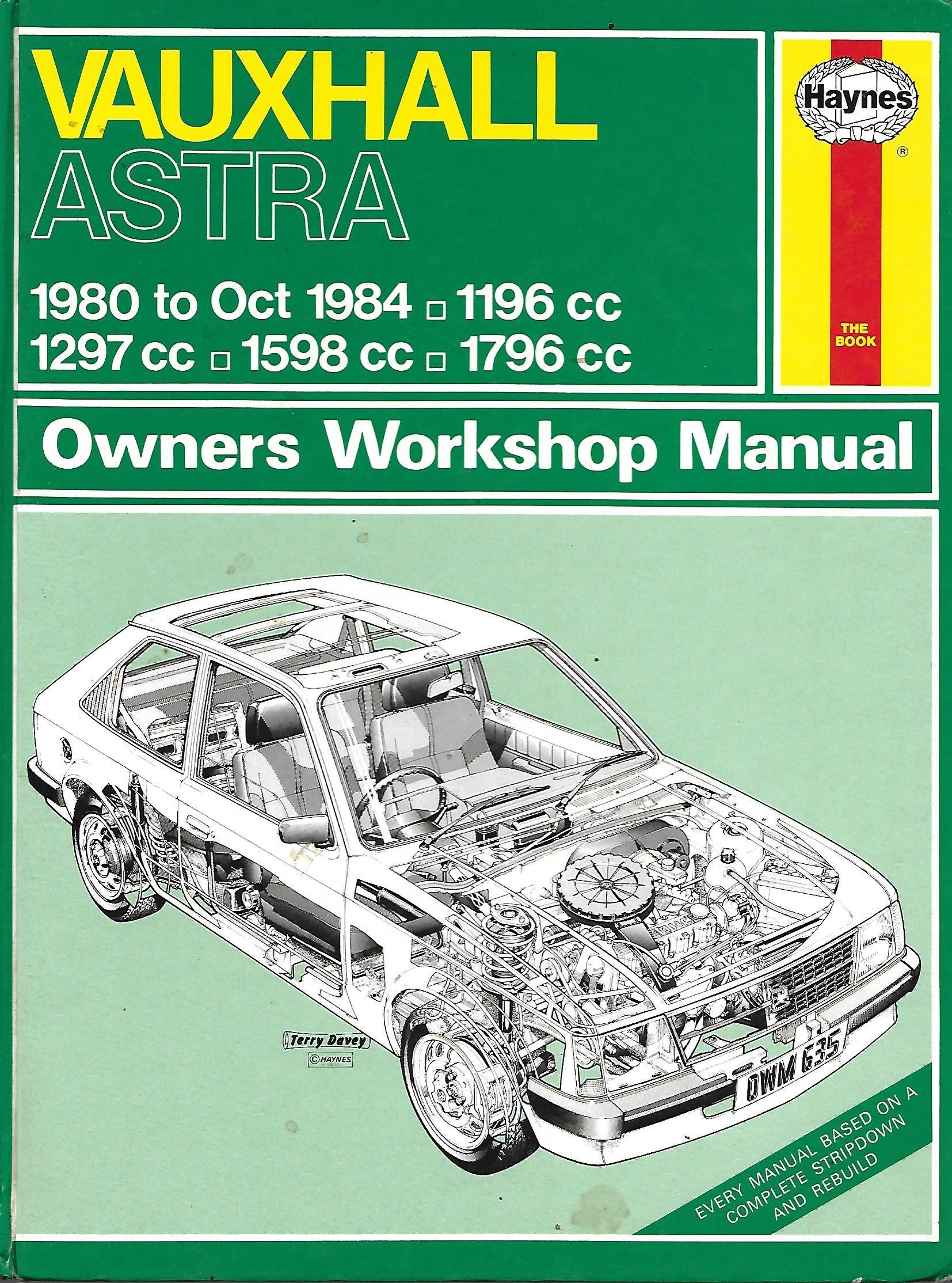 635 vauxhall astra 1980 oct 1984 haynes car manuals uk rh pinterest com Vehicle Manual Haynes Car Manuals Spreads