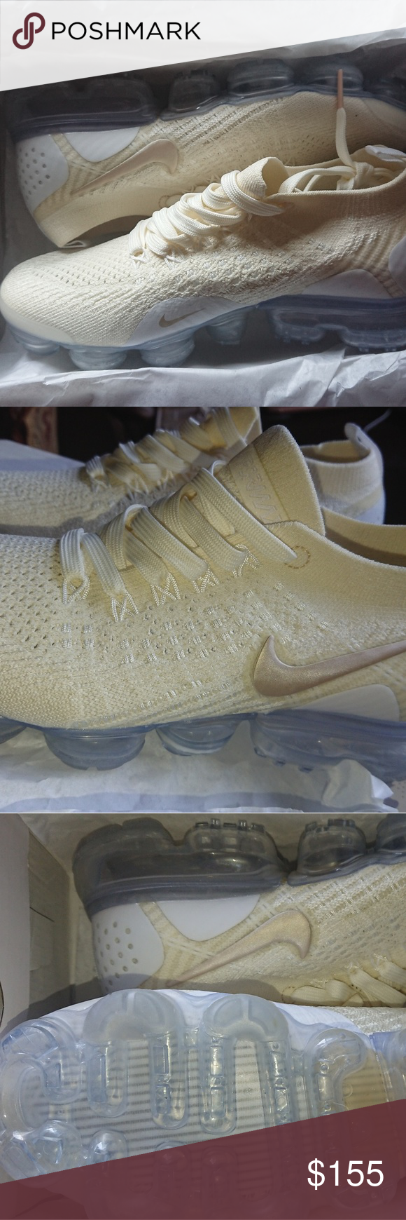 aa9acf359 Nike Vapormax 2.0 sneakers Light cream nike air vapormax. Light weight and  comfortable. Women s Size 7.5. Box is not in mint condition