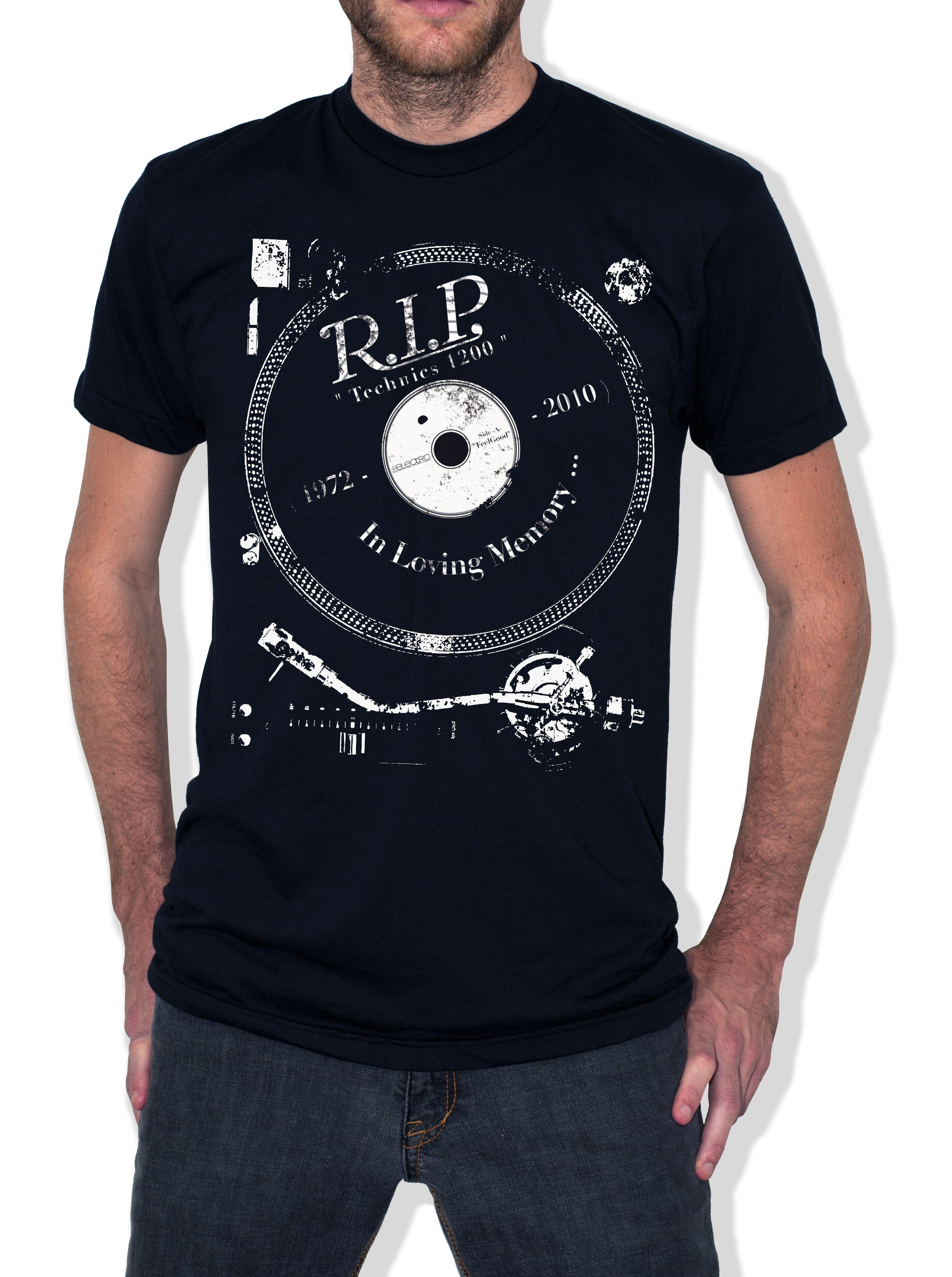 Shirt rip design - R I P Technics 1200 Tee Design A Global Brand Of Apparel