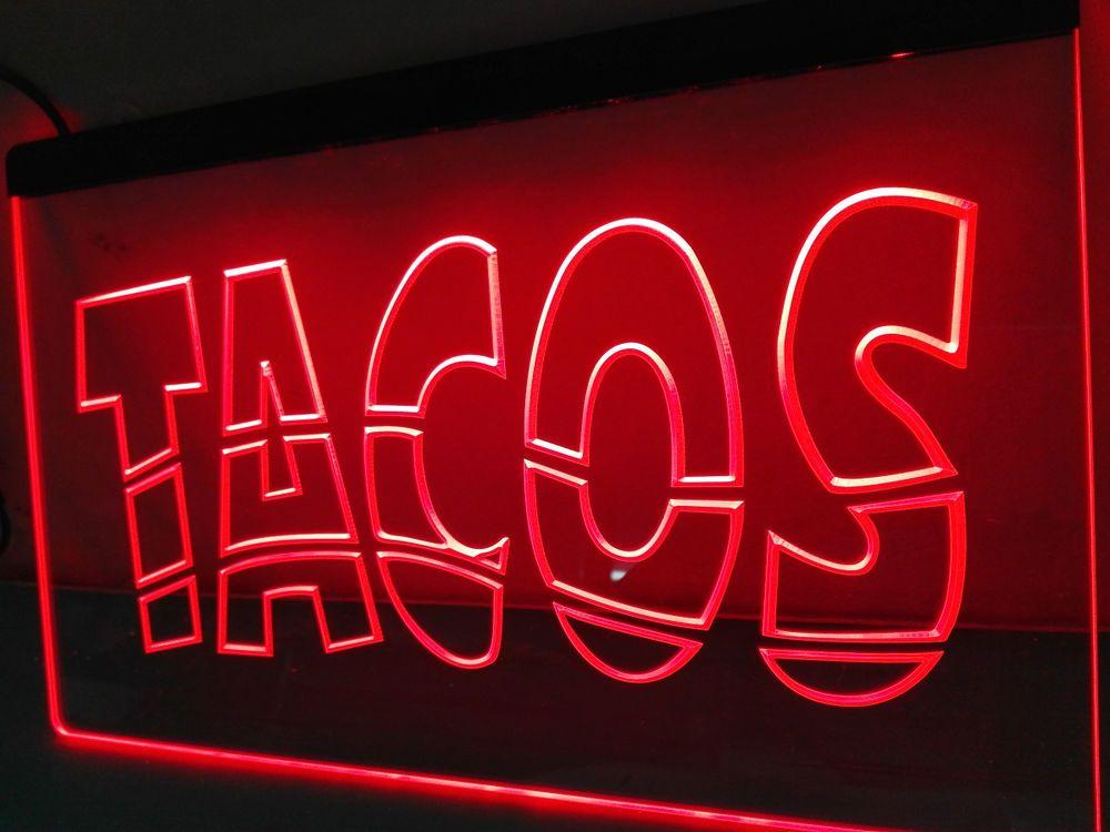 Details About Mexican Tacos Reklame Schild Nr Led Neon Light Sign Home Decor Crafts Man Cave