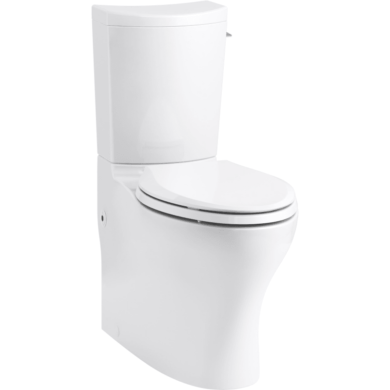 Kohler K 75790 Ra 0 White Persuade Curv 1 0 1 6 Gpf Dual Flush Two Piece Elongated Chair Height Toilet With Hand Lever Less Seat In 2020 Chair Height Traditional Toilets Kohler