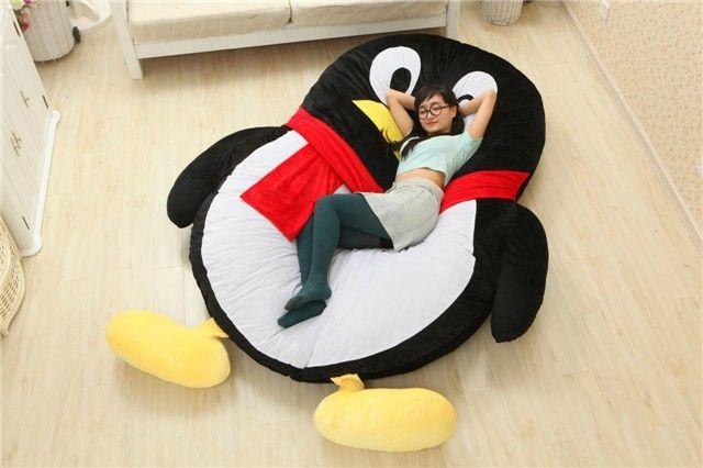 Cartoon Penguin Large Floor Cushion Dear Santa