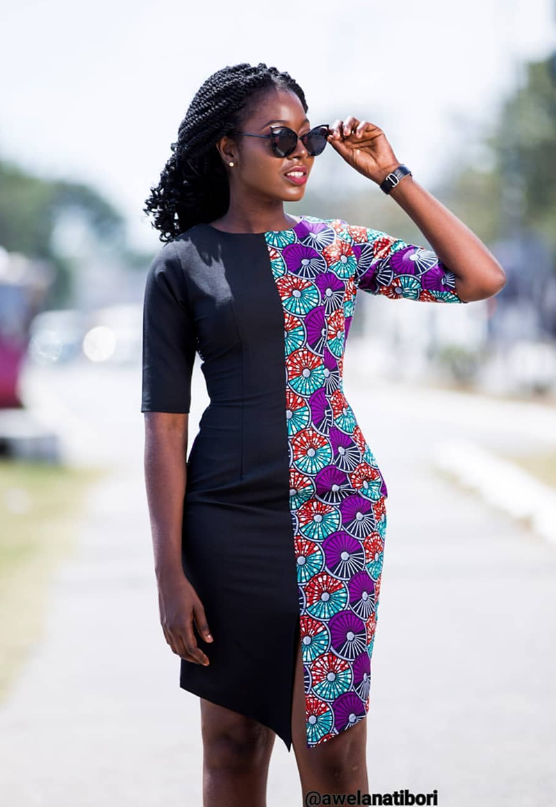 #fGSTYLE: New African Fashion Trend Alert, Half Print African Dress Set To Rock 2019 #africanfashion