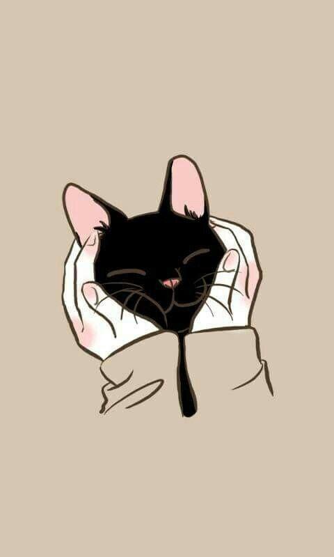 Pin By Benjamas P On Illustrations And Paintings Kitten Wallpaper Cat Art Cat Wallpaper