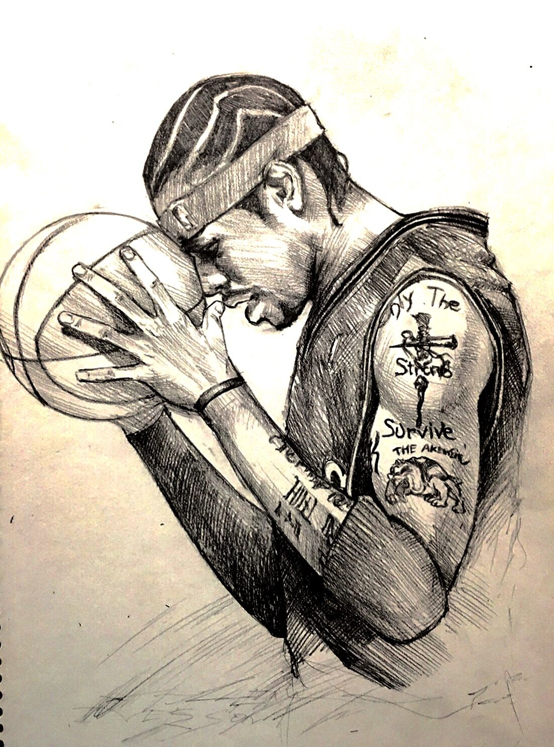 Allen Iverson   Sketches, Nba wallpapers, Male sketch