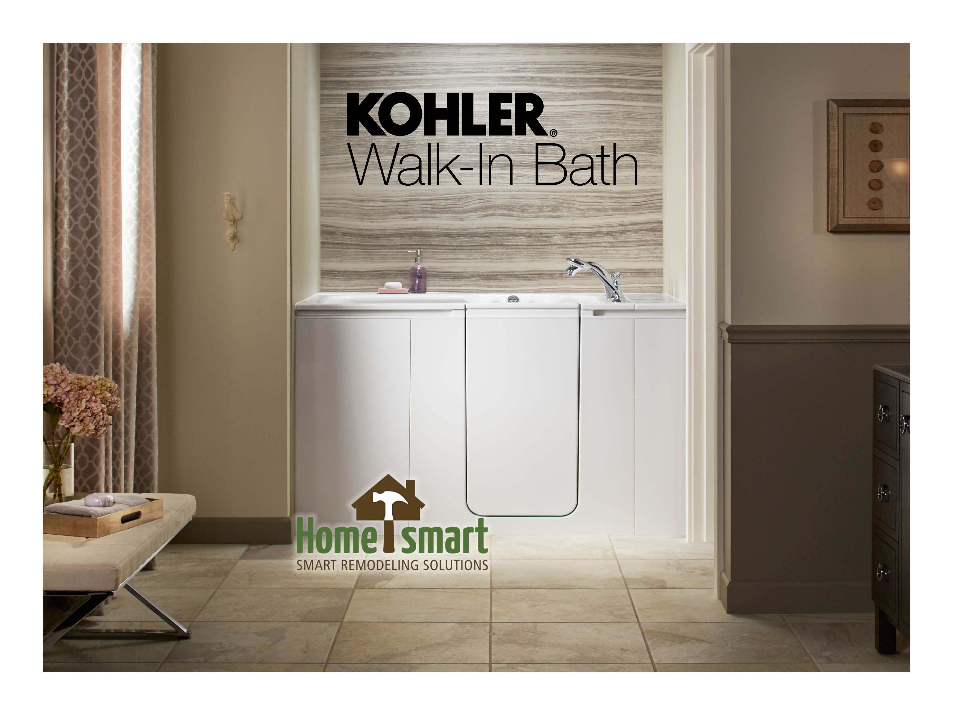 Home Smart Industries Is Now A Certified Installer For The Kohler Walk In Bath This Safety Walk In Bath Tub Will Give You The Peace O Walk In Bath Kohler Bath