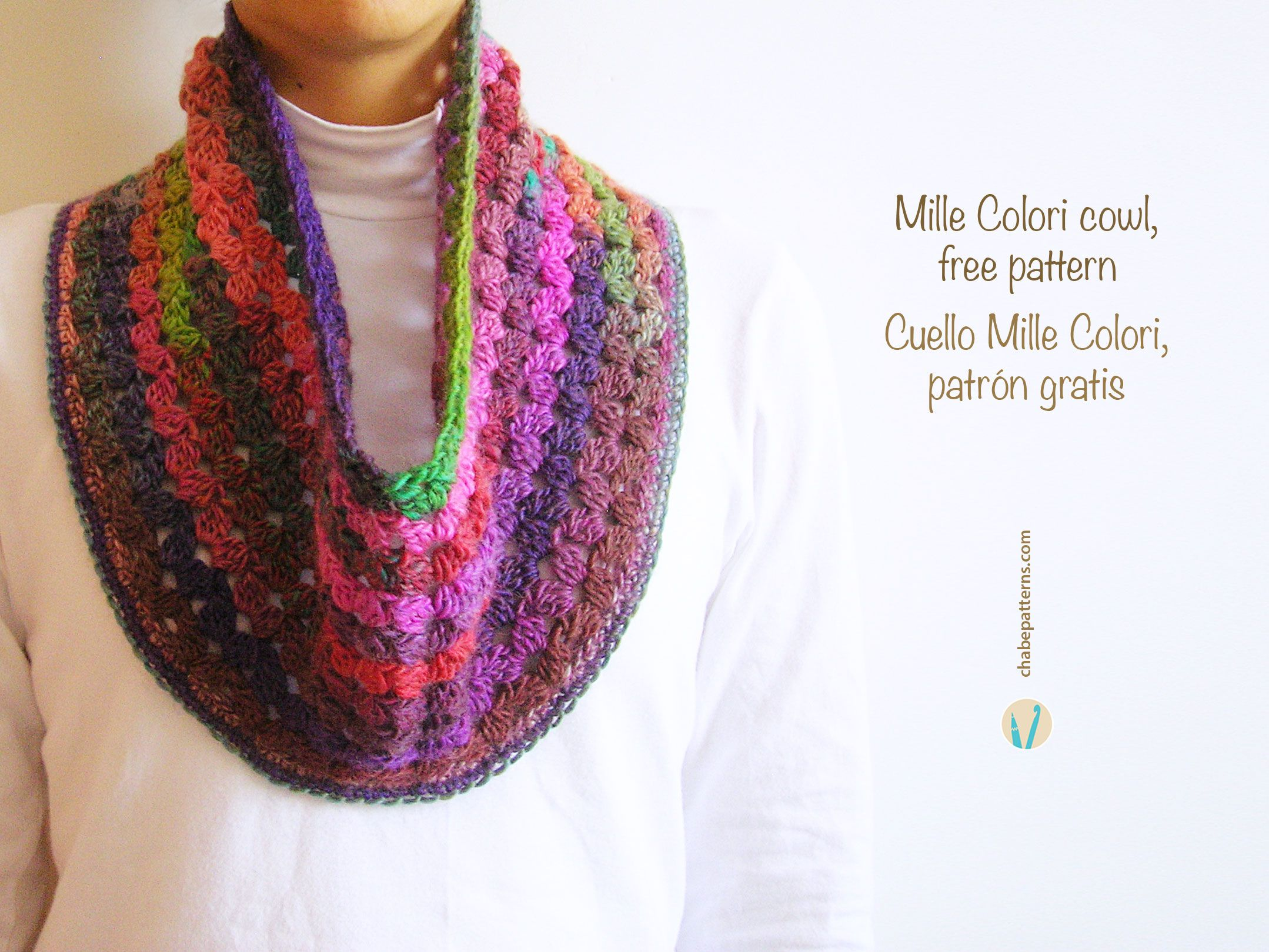 Cowl free pattern, chart with symbols, photo tutorial and written ...