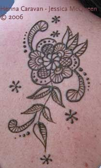 henna flower -not crazy about the petal shape